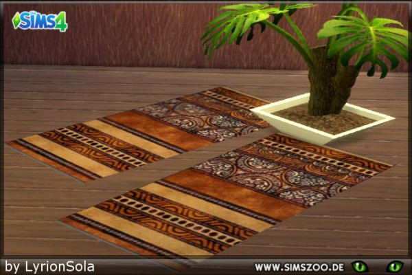Blackys Sims 4 Zoo: African rugs by LyrionSola