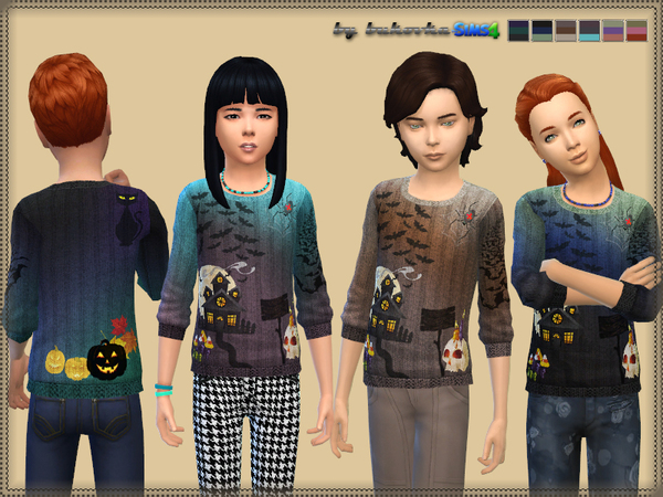 The Sims Resource: Spooky Sweater by bukovka