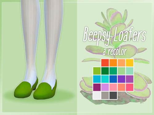 Nolan Sims: Beepsy Loafer Recolors