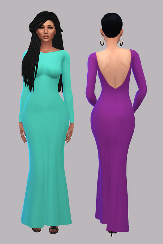 Simsworkshop: Backless Gown Recolors by maimouth