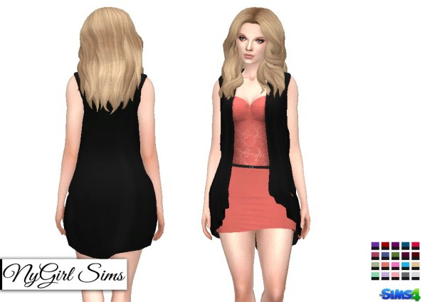 NY Girl Sims: Lace Dress with Sleeveless Cardigan