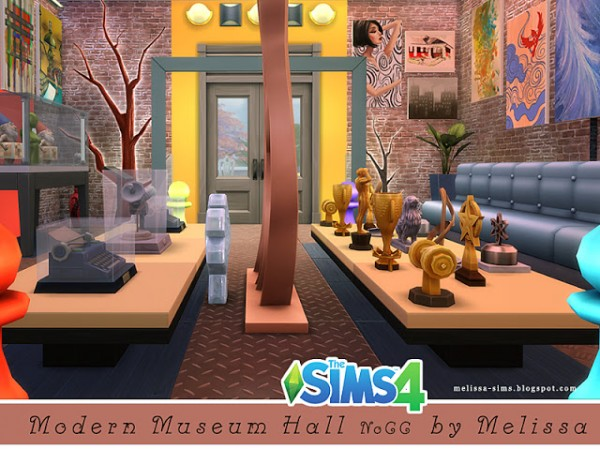 Melissa Sims 4: Modern Museum Hall