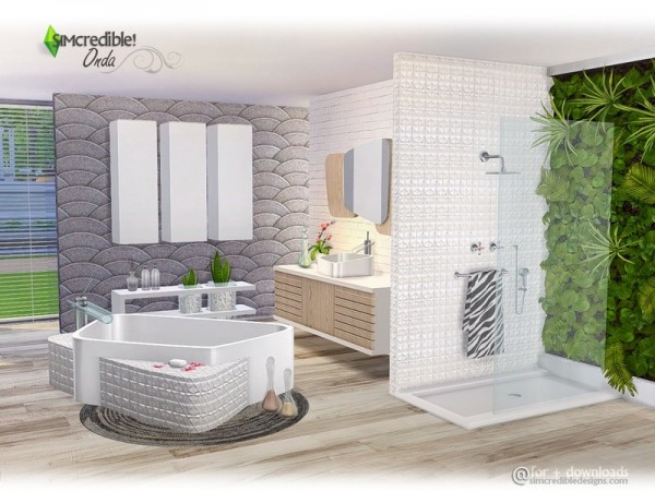The Sims Resource Onda Bathroom By Simcredible Sims 4