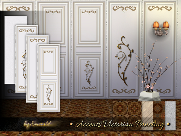 The Sims Resource: Accents Victorian Paneling by emerald