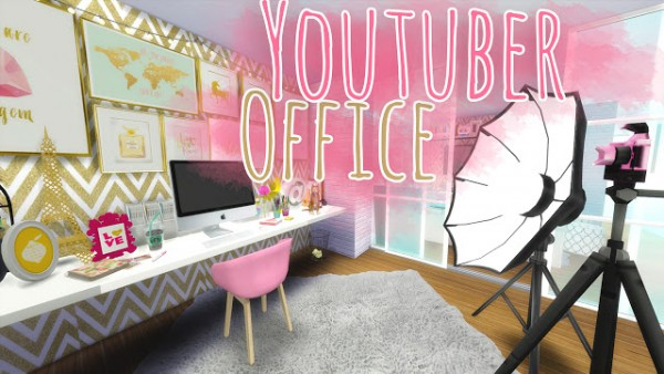 mony sims youtuber office • sims 4 downloads