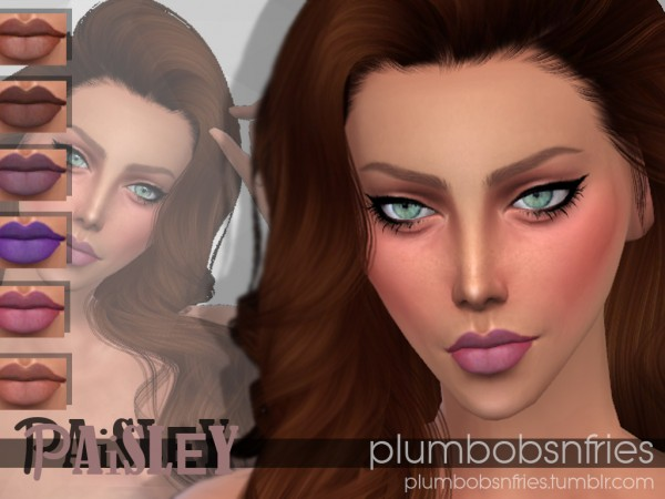 Plumbobsnfries: Paisley lips