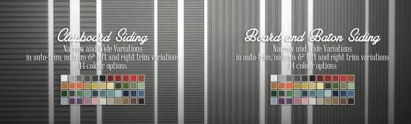 Simsational designs: Simple Siding Wall Set