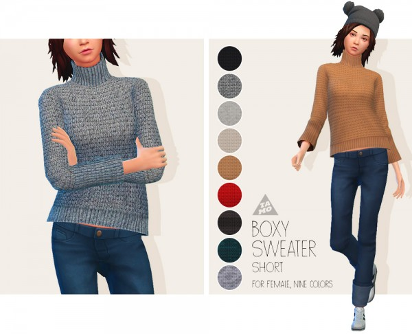 Tamo: Boxy Sweater Short
