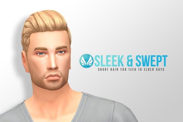 Simsational designs: Sleek and Swept Hairstyle