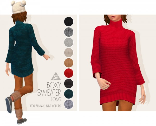 Tamo: Boxy Sweater Long