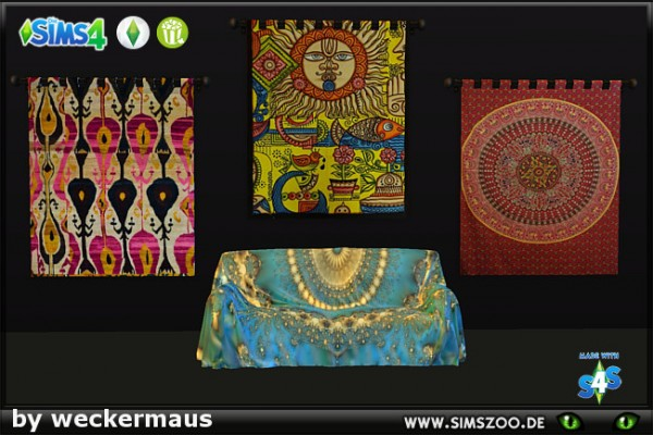 Blackys Sims 4 Zoo: Hippie wall rug by weckermaus
