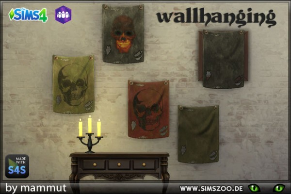 Blackys Sims 4 Zoo: Shabby Flag by mammut
