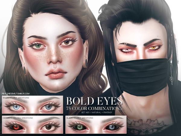 The Sims Resource: Bold Eyes Set N01 by Pralinesims