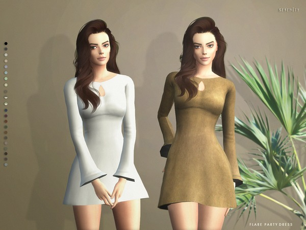The Sims Resource Flare Party Dress By Serenity Cc Sims