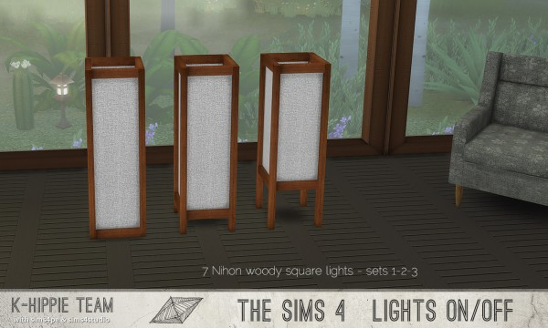 Simsworkshop: 7 Nihon Woody Lamps – set 1 by k hippie