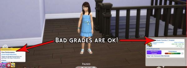 Simsworkshop: Bad Grades are OK! by Simstopics