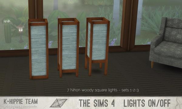 Simsworkshop: 7 Nihon Woody Lamps – set 1 by k hippie