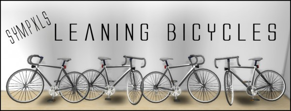 Simsworkshop: Leaning Bicycles by Sympxls