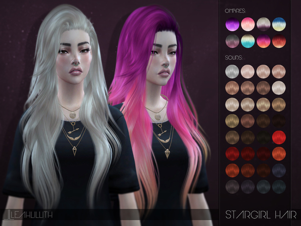 The Sims Resource: LeahLillith Stargirl Hairstyle