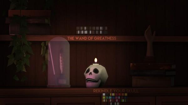 The Plumbob Architect: Skull candle   Simblreen gift 1