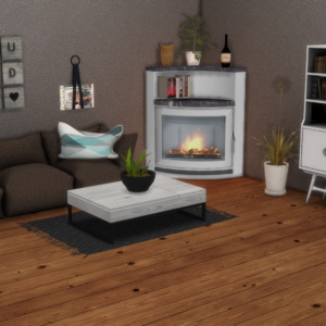 Leo 4 Sims: Tomelin Fireplace