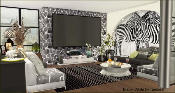 Tanitas Sims Black White Penthouse Sims 4 Downloads