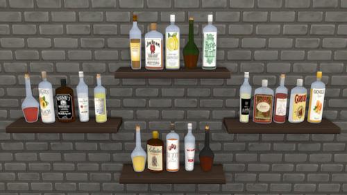 La Luna Rossa Sims Various Decorative Bottles Sims 4