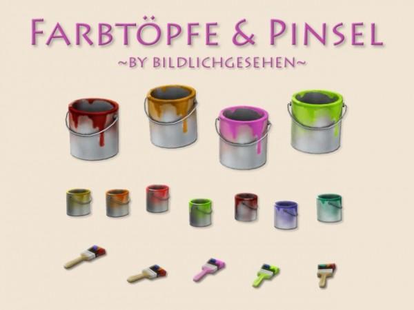 Akisima Sims Blog: Paint Pots & Brushes