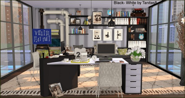Tanitas Sims Black White Penthouse Sims 4 Downloads