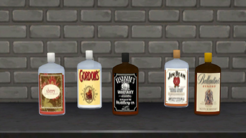 La Luna Rossa Sims Various Decorative Bottles Sims 4