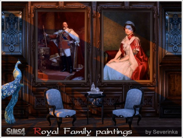Sims By Severinka Royal Family Paintings Sims 4 Downloads