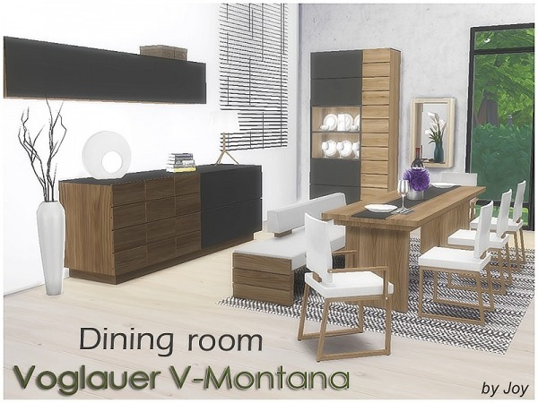The Sims Resource: Dining Room Voglauer V Montana By Joy ...