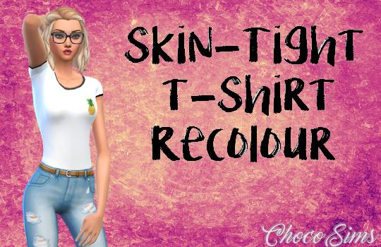 Choco Sims: Skin tight t shirt