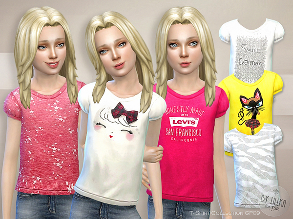 The Sims Resource: T  Shirt Collection GP09 by lillka