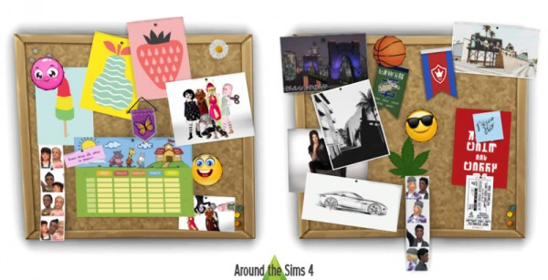 Around The Sims 4 Customize Your Pinboard Corkboard