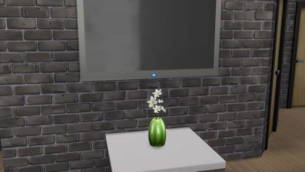 La Luna Rossa Sims: Plain Vase with Flowers