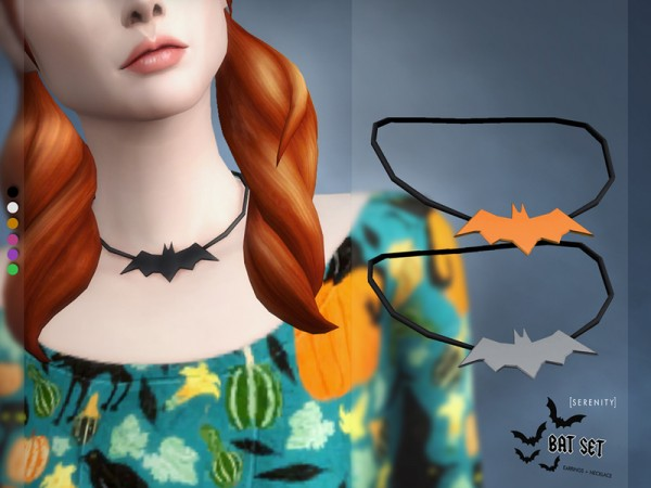 The Sims Resource: Bat Acessories Set by serenity cc