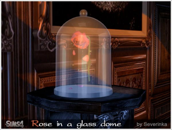 Sims by Severinka: Rose in a glass dome