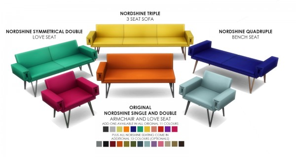 Simsational designs: Nordshine Seating   City Living Add on