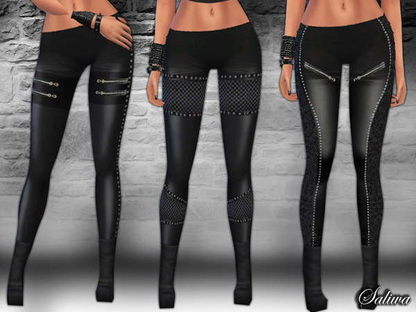 The Sims Resource: Leather Pants Pack by Saliwa