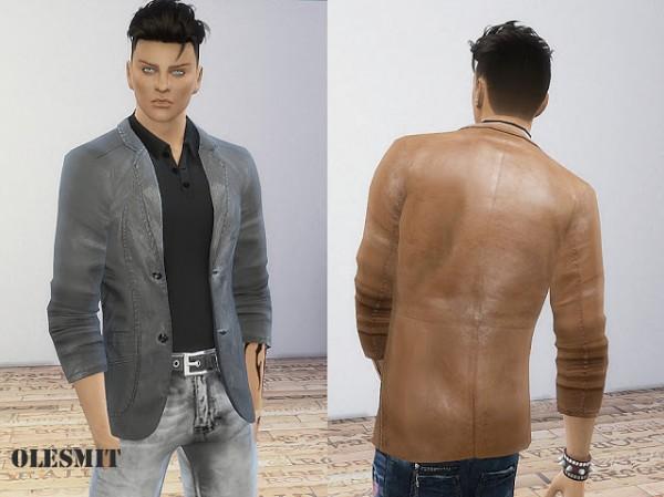 OleSims: Leather blazer
