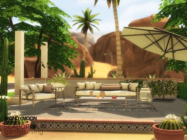 The Sims Resource: Seaborgium Garden Living by wondymoon