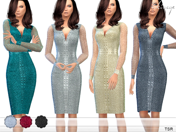 The Sims Resource: Cocktail Dress by ekinege