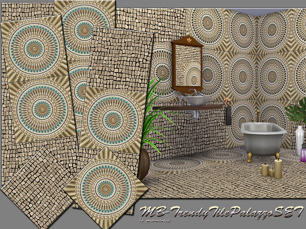 The Sims Resource: Trendy Tile palazzo set