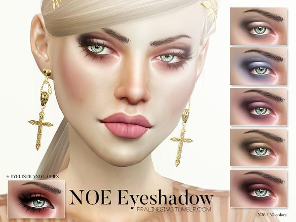 The Sims Resource: Noe Eyeshadows N36 by Pralinesims
