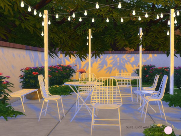 The Sims Resource: Olive Juice Wire Patio Set by DOT