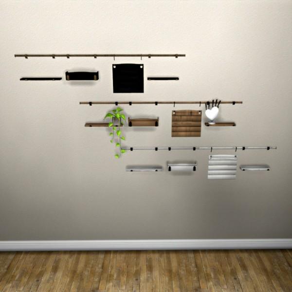 Leo 4 Sims: Leos Kitchen Shelf