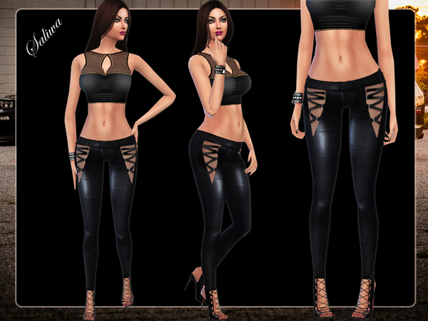 The Sims Resource: Queen Leather Pants by Saliwa