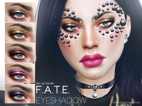 The Sims Resource: F.A.T.E. Eyeshadow N37 by Pralinesims