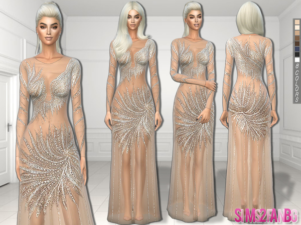 The Sims Resource 244 Nude Prom Dress By Sims2fanbg